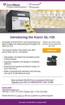 Pack-Expo-PreShow-2018_Email2-New label printer to be unveiled at PACK EXPO 2018!